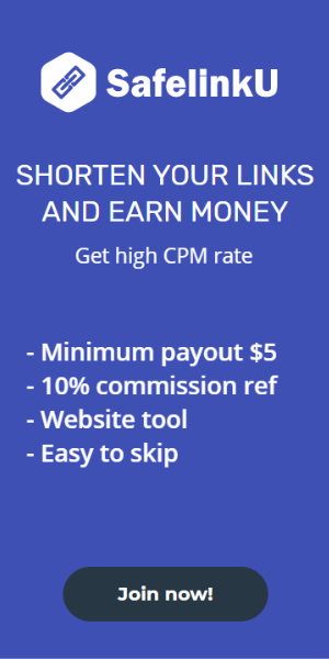 SafelinkU | Shorten your link and earn money